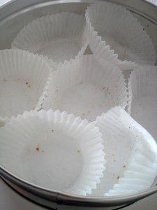 Caja vacia galletas de té rizadas