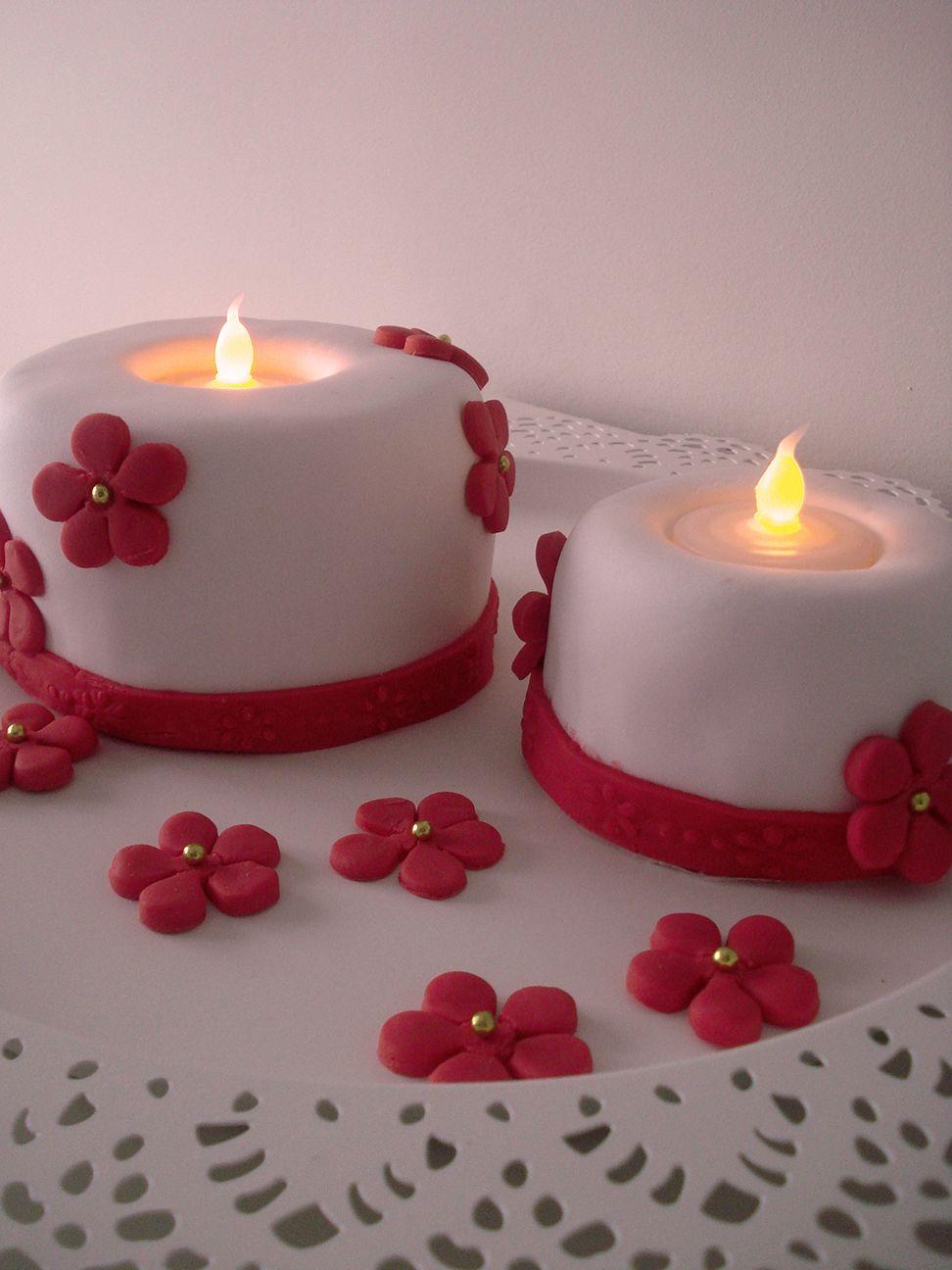 pastel fondant de  velas